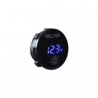 [Digitálny voltmeter 5-36V modrý s ukazovateľom stavu batérie]