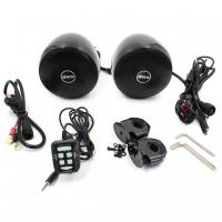[Reproduktory na motocykel, skúter, ATV s MP3, USB, AUX, BLUETOOTH, farba čierna]