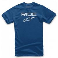 [Pánske modré tričko RIDE 2.0 TEE Alpinestars krátke 1038-72000 7920]