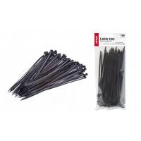 [Sťahovacie pásky čierne 2,5x200mm - 100 ks]
