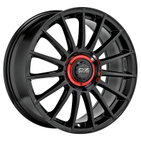 [OZ SUPERTURISMO EVO - GLOSS BLACK + RED LETTERING]
