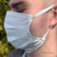 [Rúško proti baktériam, prachu a smogu MadMask - netkaná textília (White)]
