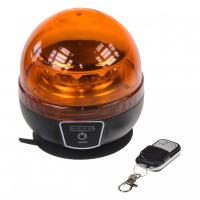 [AKU LED maják, 12x3W oranžový, diaľkové ovládanie, magnet, ECE R65]