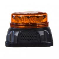 [LED maják, 12-24V, 12x3W oranžovej farby s integrovanou zvukovou signalizáciou, fix]