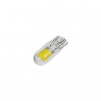 [COB LED T10 biela, 12V, celosklo]
