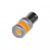 [LED BA15s oranžová, COB 360⁰, 9-60V, 12W]