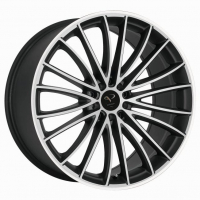 [CORSPEED LE MANS - MATTBLACK-POLISHED / COLOR TRIM WEISS]