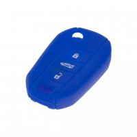 [Silikónový obal pre kľúč Peugeot, Citroën, 3-tlačidlový, modrý]