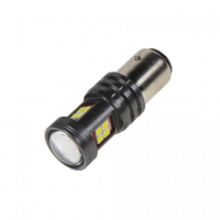 [LED BAY15d biela, dvouvlákno, 12-24V, 15LED / 2835SMD]