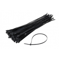 [Sťahovacie pásky čierne 3,6x300mm - 100 ks]