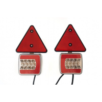 [Magnetická lampa prívesu 25 LED, trojuholník + vodič 7,5 m]
