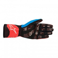 [Rukavice Alpinestars TECH-1 K RACE V2 GLOVE - Red Fluorescent/Cobalt Blue]
