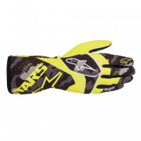 [Rukavice Alpinestars TECH-1 K RACE V2 CAMO GLOVE - Yellow Fluorescent/Black]