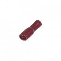 [Objímka plochá izolovaná 4,8 mm červená, 100 ks]