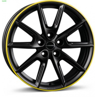 [Borbet LX18 black matt rim yellow]