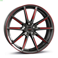 [Borbet LX graphite spoke rim red polishe]