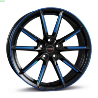 [Borbet LX black matt spoke rim blue poli]