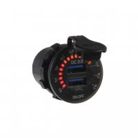[2x USB nabíjačka QC3.0, voltmeter s analógovou indikáciou do panelu]