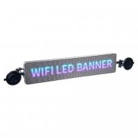 [Wifi LED banner - plnofarebný displej s vysokým jasom 49,5 cm x 11 cm]