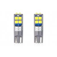[LED CANBUS 10SMD 3030 T10 W5W biela 12V / 24V]