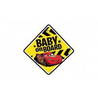[Tabuľka do auta - Dieťa v aute - BABY ON BOARD CARS]