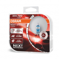 [Halogénová žiarovka Osram H11 12V 55W PGJ19-2 NIGHT BREAKER SILVER + 100%/2ks]
