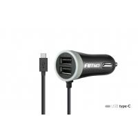[Nabíjačka do auta 12/24V Micro C + 2x USB 2.4A PCH PRO-3]