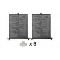 [Roleta proti slnečnému žiareniu s prísavkami 2 x 45 cm čierna, PVC]