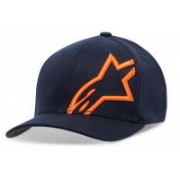 [Pánska modro-oranžová šiltovka CORP SHIFT 2 Flexfit Alpinestars 1032-81008 7032]