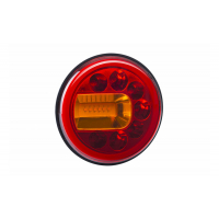 [Multifunkčné zadné svetlo HOR 96A - LUNA, LED 12/24V, ĽAVÉ (montáž na stenu, pozičné svetlo, brzdové svetlo a smerové svetlo, guľatý kábel 4x0,5 mm2, dĺžka 1,5 m)]