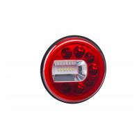 [Multifunkčné zadné svetlo HOR 96B - LUNA, LED 12/24V, ĽAVÉ (verzia pre montáž na stenu, pozičné, hmlové a spätné svetlo, guľatý kábel 4x0,5 mm2, dĺžka 1,5 m)]
