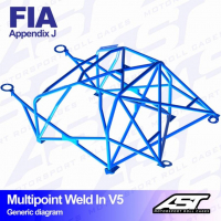 [Roll Cage VW Polo (6N) 3-doors Hatchback MULTIPOINT WELD IN V5]