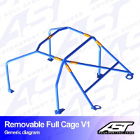[Roll Cage VW Polo (6N) 3-doors Hatchback REMOVABLE FULL CAGE V1]