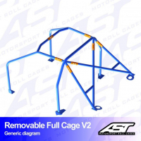 [Roll Cage VW Polo (6N) 3-doors Hatchback REMOVABLE FULL CAGE V2]