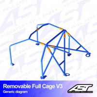 [Roll Cage VW Polo (6R) 3-doors Hatchback REMOVABLE FULL CAGE V3]