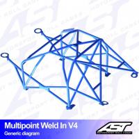 [Roll Cage VW Scirocco (Mk3) 3-doors Hatchback MULTIPOINT WELD IN V4]