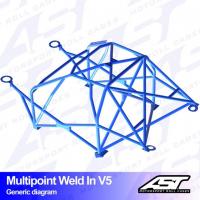 [Roll Cage VW Scirocco (Mk3) 3-doors Hatchback MULTIPOINT WELD IN V5]