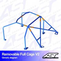 [Roll Cage VW Scirocco (Mk3) 3-doors Hatchback REMOVABLE FULL CAGE V2]