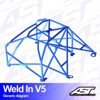 [Roll Cage VW Scirocco (Mk3) 3-doors Hatchback WELD IN V5]