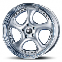 [RH RIMS TURBO P - SILVER WITH HIGH GLOSS POLISHED LIP]