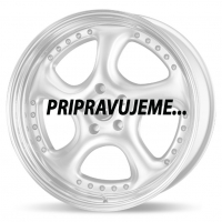 [RH RIMS TURBO P - SILVER WITH STAINLESS LIP]