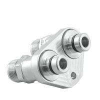 [Adapter chłodnicy oleju skrzyni biegów ZF 8HP70 BMW Diesel + Nyple 18x1.5 AN10]