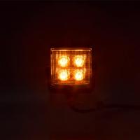 [Külső LED figyelmeztető lámpa, Narancs, 12-24V, ECE R65]