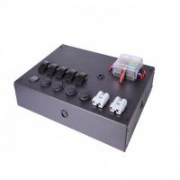 [Panel przełączników Box ALU, ON-OFFx5, 3xGZ, USB 3.1A, 1x Voltomierz 6 Bezpieczników IP68]