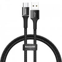 [Kábel USB na micro USB s LED svetlom 3A 100 cm čierny BASEUS Halo]