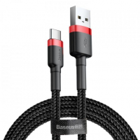 [Kábel USB na USB-C Cafule 3A 100 cm čierny a červený]