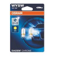 [Autožiarovka OSRAM 12V WY5W W2,1x9,5d 12V diadem chrome oranžová - 2ks]