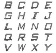 3D znaky, písmena